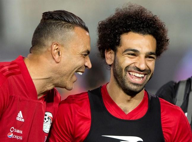 Mohamed Salah, till höger, verkar kunna vara med direkt från början i VM.