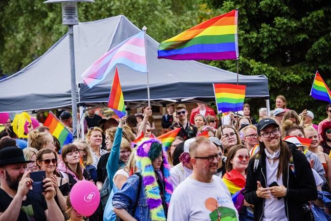 Så här såg det ut under Karleby Pride 2018.