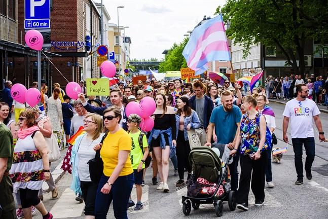 Pride i Karleby den 16 juni 2018.