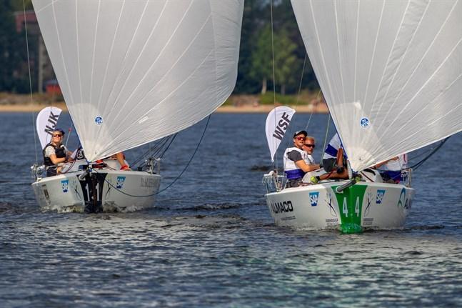 Wasa Segelförening längst till höger vann sitt enda race i ligadeltävlingen i Vasa på lördagen.