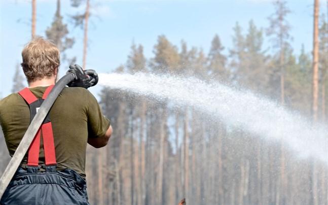 Det råder varning för skogsbrand i Österbotten just nu.