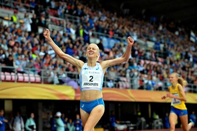 Glädjeyttringar av det här slaget vill vi gärna se också sommaren 2020. 30-åriga Sandra Eriksson är i full gång med träningen och räknar med att hon har de bästa åren framför sig.