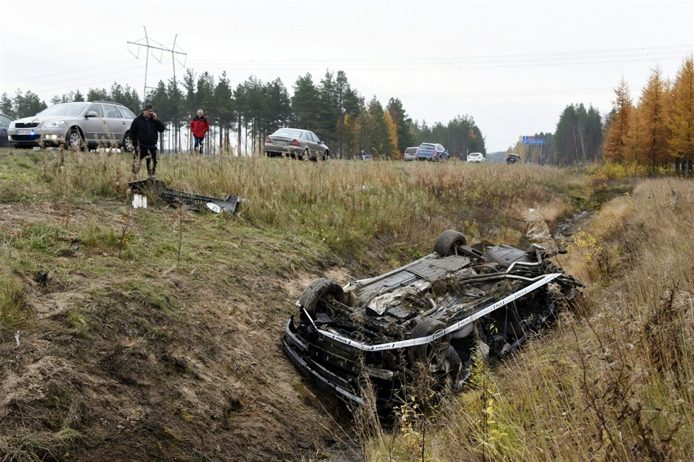 Tre omkom i norsk trafikolycka