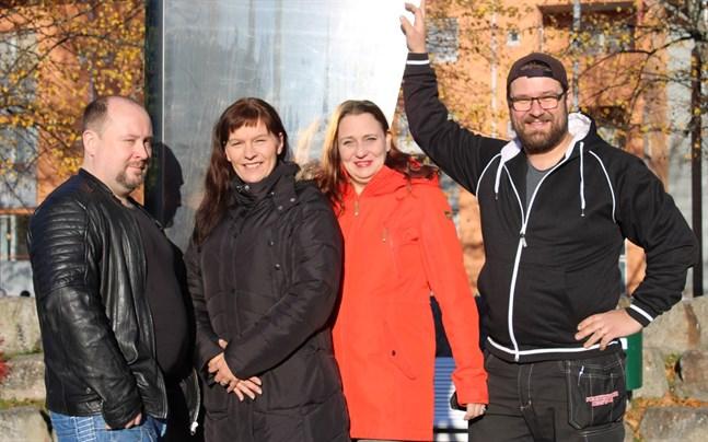 Micael Westerholm, Heidi Aro, Susanna Sariola och Jussi Lammi leder Sannfinländarna i Korsholm 2019.