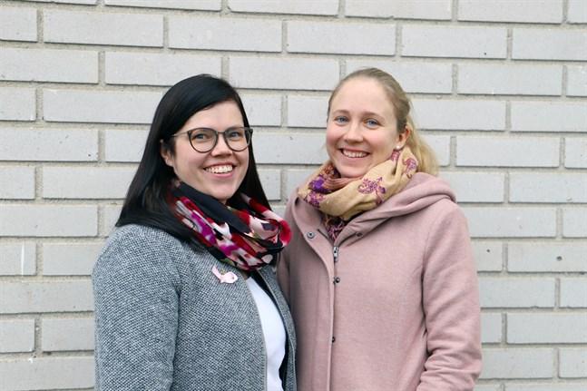 Malin Pärus och Anna Nordmyr grundade företaget LIV Healthcare i somras. För tillfället jobbar de med att knyta kontakter och skapa en kundkrets.