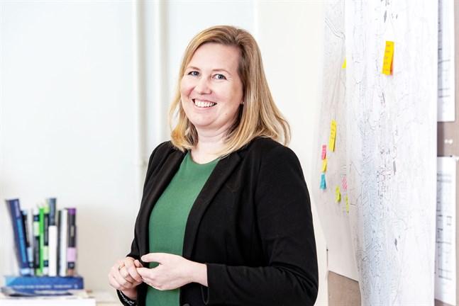 Åsa Björkman, vd för Fastighets Ebba Ab. Fastighetsaktiebolaget har inte upplevt sig utsatta i samarbetet med disponentföretaget Realia