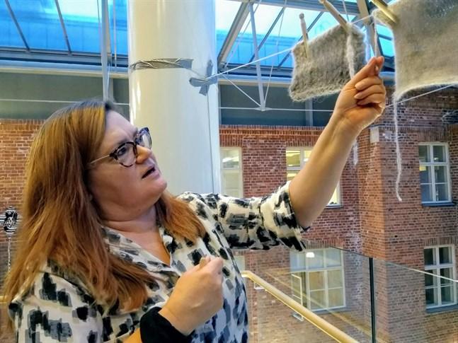 """Pia Blomström är mycket nöjd mer resultatet av projektet """"Rufh""""."""