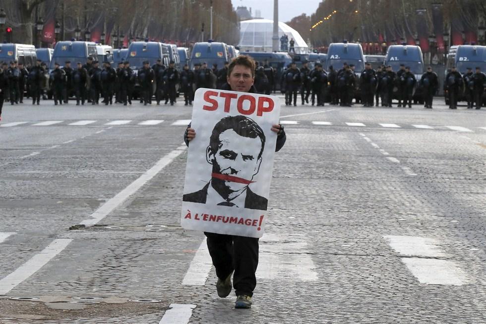 Lugn protest i georgien