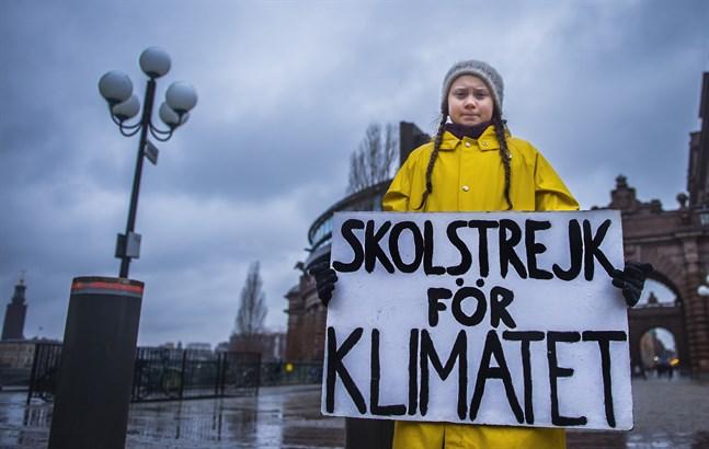 Greta Thunberg listas av tidningen Time Magazine som en av världens 25 mäktigaste tonåringar. Arkivbild.