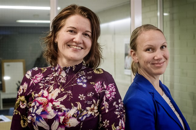 Viktoria Forsberg och Malin Brännkärr är överens om att en högklassig marknadsföringsbyrå kan fungera minst lika bra på landsbygden som i en storstad.