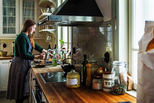 Hemma hos familjen Jungarå är det mesta köpt begagnat eller i alla fall lokalt..