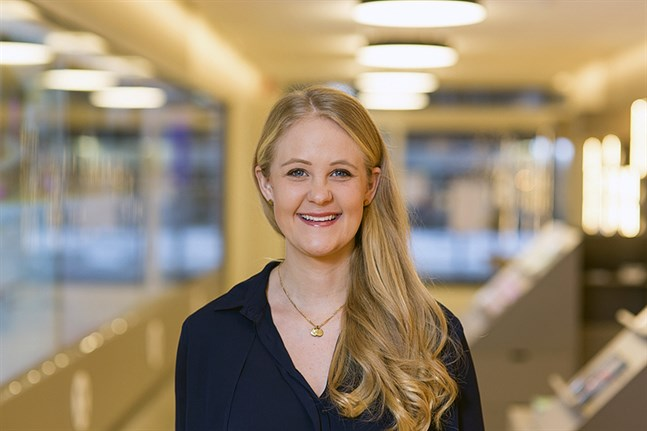 Hanna Sondell jobbar på stadens turistorganisation Visit Umeå.