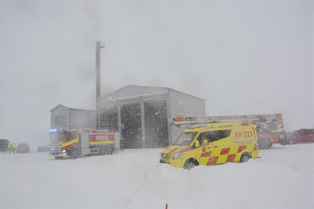 Femton enheter ryckte ut till Brännskogsvägen på tisdagen.