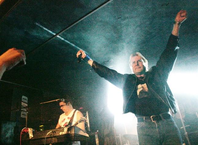 Det här fotot togs när Matti Nykänen uppträdde i Vasa i mars 2006.