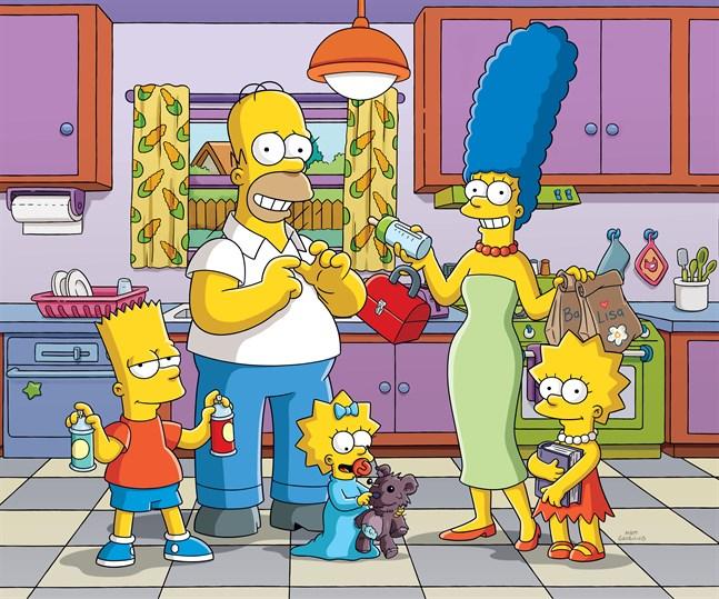 """Bart, Homer, Maggie, Marge och Lisa från """"The Simpsons"""" återvänder i ytterligare två säsonger."""