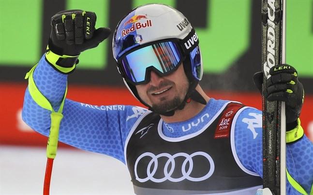 Dominik Paris är nöjd med sitt åk som sannolikt var segeråket i super-G vid alpina VM i Åre.