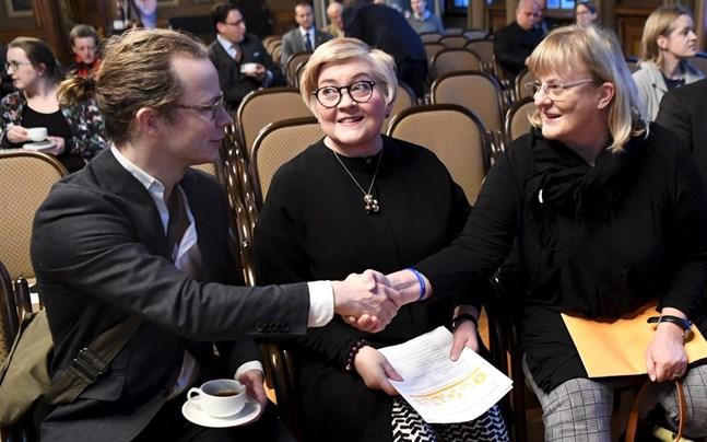 Ohto Kanninen, Anu Vehviläinen och Pirkko Mattila.