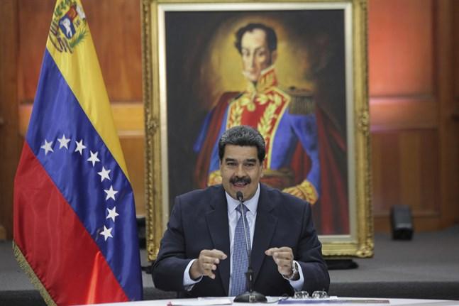 Venezuelas sittande president Nicolás Maduro. Arkivbild.