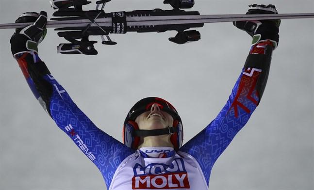 Petra Vlhova tog ett historiskt VM-guld i storslalom.