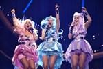 """Dolly Style framför sitt bidrag """"Habibi"""" i Melodifestivalens tredje deltävling i Leksand."""