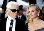 Karl Lagerfeld och Diane Kruger vid filmfestivalen i Cannes 2007. Arkivbild.