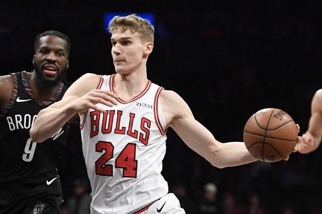 Lauri Markkanen satte nytt personligt poängrekord i matchen mot Boston Celtics. Bilden är från Chicago Bulls match mot Brooklyn Nets tidigare i februari.