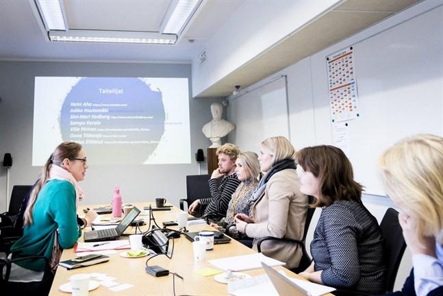 IRM-Tool projekt och Centret för konstfrämjande besöker Meyer Åbo 25 oktober 2018 för att hjälpa till att välja rätt utmaningar för processen.