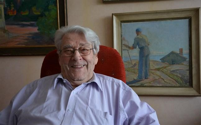 Nils Sigg som snart fyller 100 år är en pigg herreman som alltid haft en positiv inställning till livet.