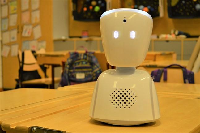Kommunikationsroboten AV1 är utvecklad för klassrummet och kan användas både inomhus och utomhus.