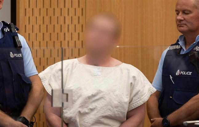 28-årige Brenton Tarrant, som misstänks för terrordådet i Nya Zeeland, framträdde i domstol på lördagsförmiddagen lokal tid.