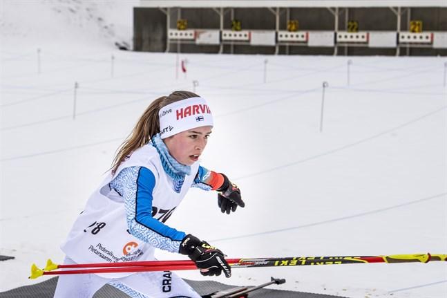 Rebecca Sandnäs från Jakobstad går från klarhet till klarhet i skidskytte.