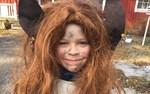 Påsktrollet Matheo Mannfolk firar påsk hos mommo i Korsnäs.