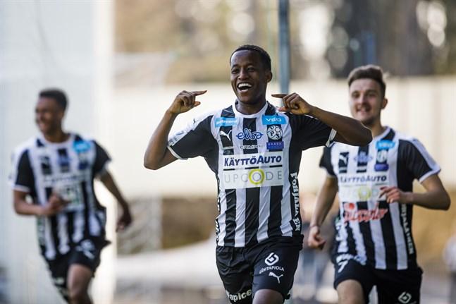 Fabrice Gatambiye gjorde VPS andra mål i hemmamatchen mot KPV den 20 april. Det var hans enda mål gångna säsong.