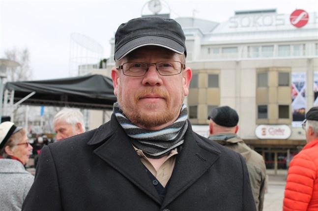Jesper Sundström, huvudförtroendeman för PAU:s medlemmar alltså postutdelarna i kustområdet från Karleby i norr till Kristinestad i söder.