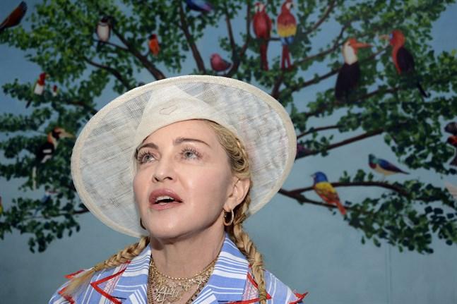 Madonna har anlänt till Tel Aviv för att framträda i Eurovision. Arkivbild.