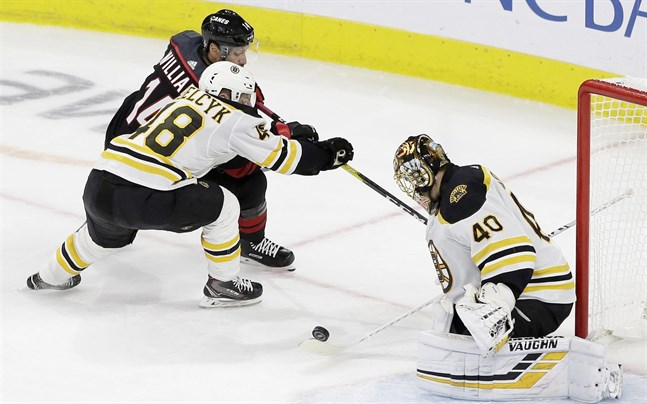 Finländaren Tuukka Rask storspelade i Boston mål.