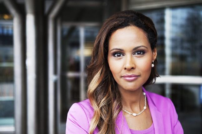 Katarina Sandström, nyhetsankare på SVT:s Rapport, tvingades avbryta torsdagens nyhetssändning. Arkivbild.