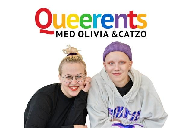 Catzo och Olivia hörs i podden Queerents.