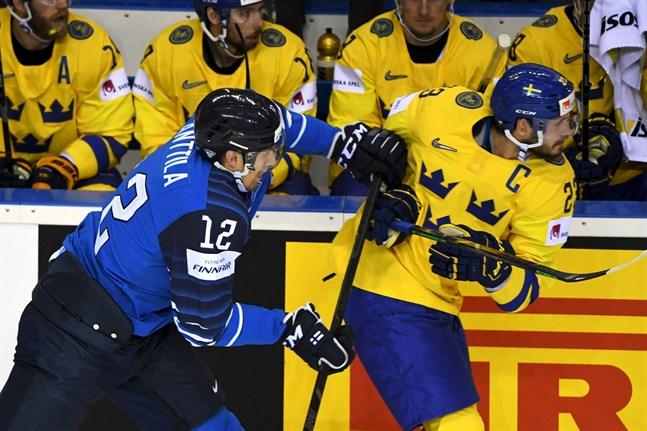 Marko Anttila jagade, tacklade och bökade mot Oliver Ekman-Larssons Sverige – och gjorde ett monumentalt mål.