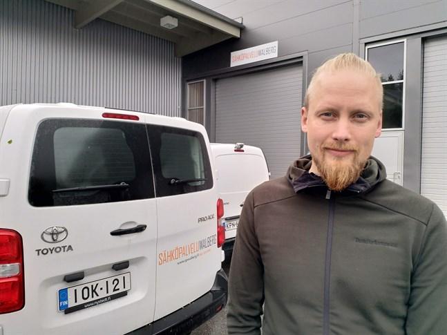Sähköpalvelu Walbergs vd Björn Walberg säger att det är viktigast att hans personal är nöjda.