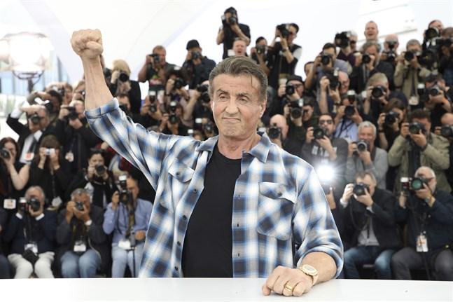 """Sylvester Stallone, 73, är tillbaka i Cannes för att prata om den femte (och möjligen sista) filmen i """"Rambo""""-serien."""