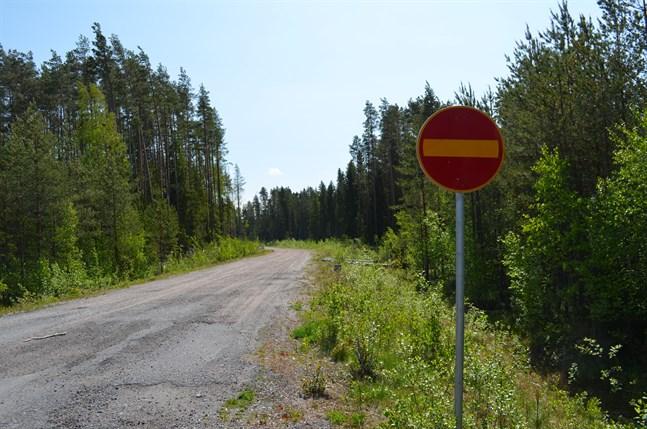 I framtiden ska den här vägen leda till ett nytt bostadsområde i Korsholm.