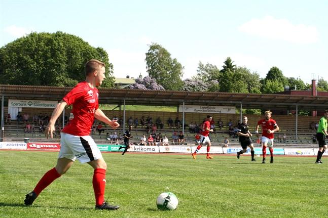 Sporting och backen Jere Moilanen hade en tung eftermiddag på Kristinaplan.