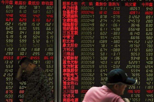 Juridisk dragkamp fortsätter att skapa börsoro. Bild från Peking i veckan.