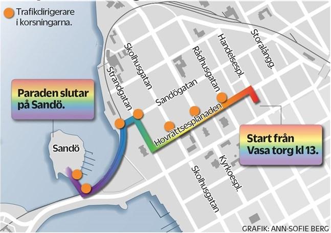 Paraden går till Sandö som planerat, men dagsfesten flyttas.