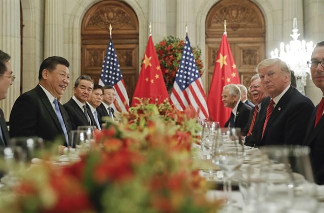 Kinas president Xi Jinping och USA:s president Donald Trumpd under deras möte i samband med G20-mötet i Buenos Arires i december förra året.