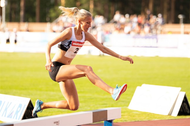 Camilla Richardssons sluttid på 3000 meter hinder i Diamond League blev 9.39,85.