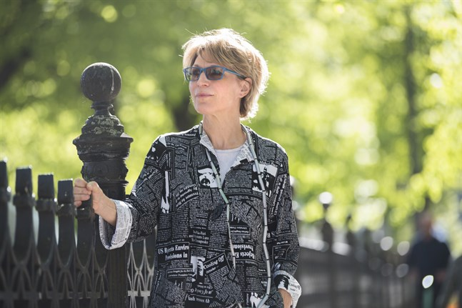 FN utredaren Agnes Callamard på besök i Stockholm.