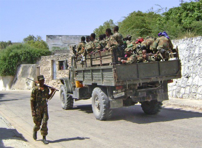 Etiopiska soldater.
