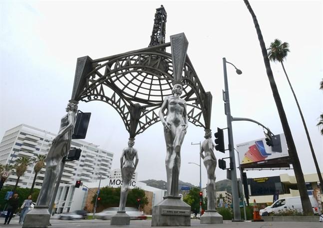 """Marilyn Monroe-statyn på toppen av """"Four ladies of Hollywood"""" blev stulen tidigare i veckan. Nu har en 25-årig man arresterats för brottet. Arkivbild."""